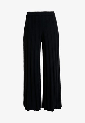 KICK FLARED TROUSERS - Broek - black