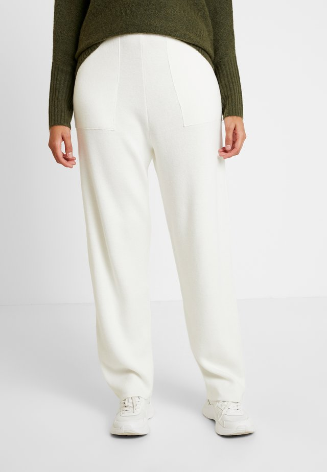 EASY PANTS - Tygbyxor - ivory
