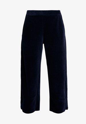WIDE PANTS - Kalhoty - navy