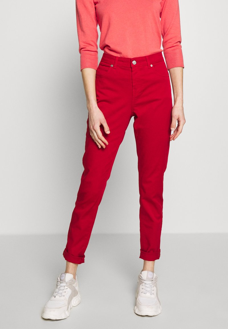 Benetton - TROUSERS - Jeans Skinny Fit - red