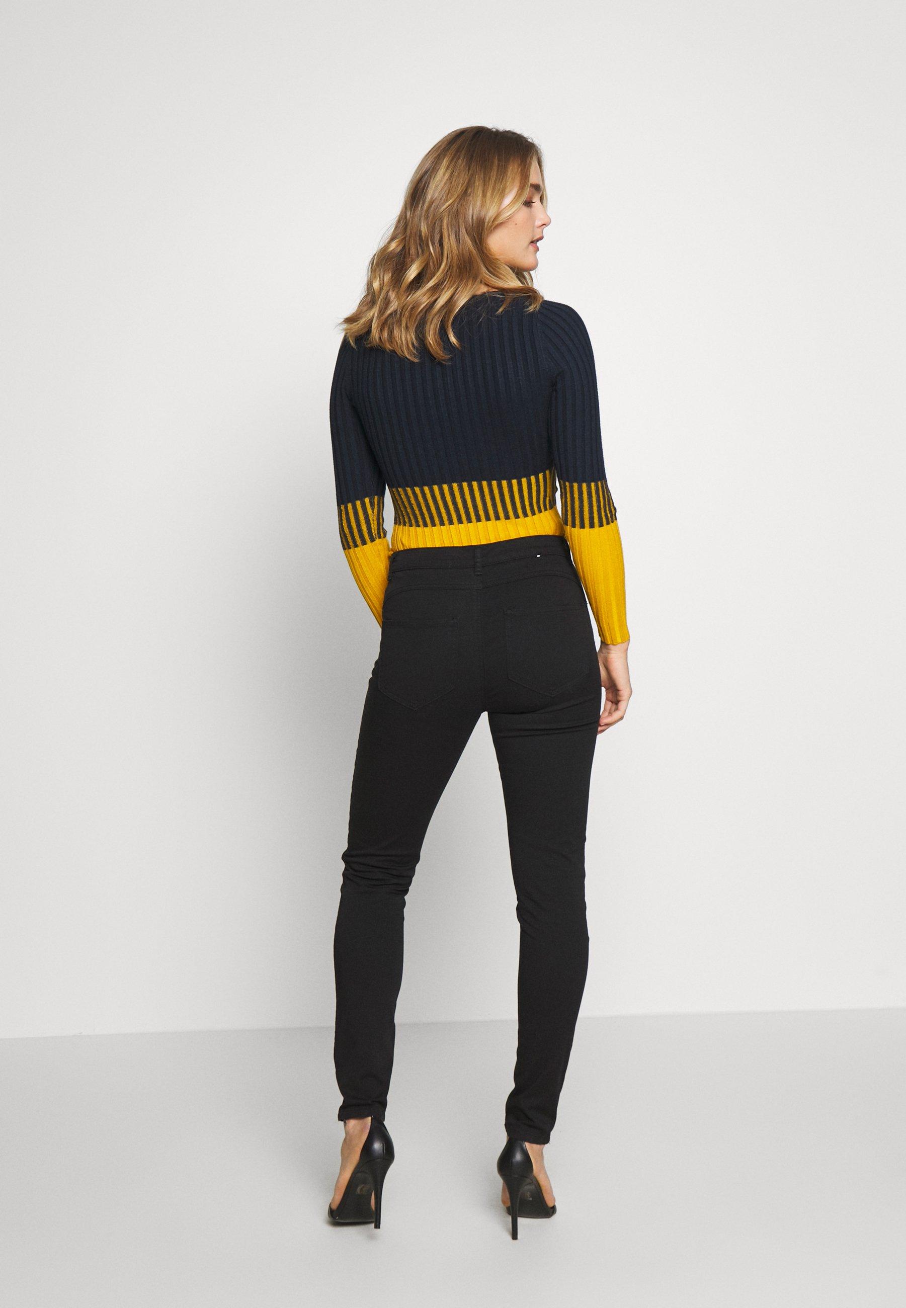 Benetton Trousers - Jeans Skinny Fit Black