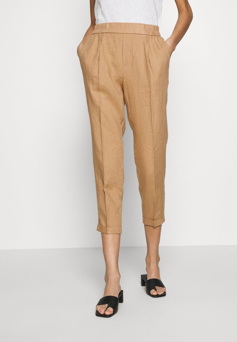 Benetton - TROUSERS - Tygbyxor - beige
