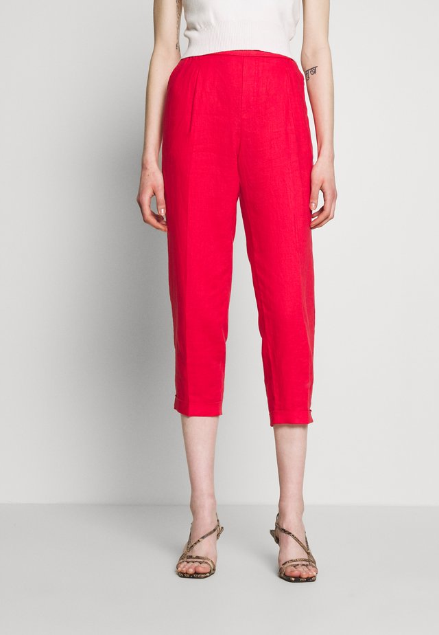 TROUSERS - Tygbyxor - red
