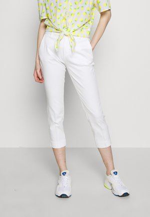 TROUSERS - Tygbyxor - white