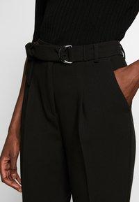Benetton - TROUSERS - Spodnie materiałowe - black - 4