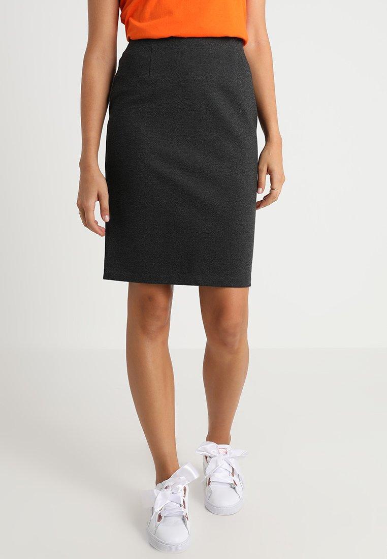 Benetton - PONTE SKIRT  - Pencil skirt - grey