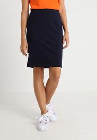 Benetton - PONTE SKIRT  - Pencil skirt - dark blue - 0