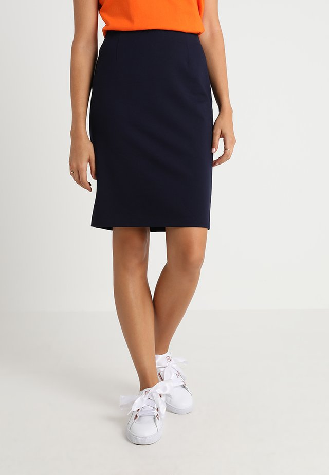 PONTE SKIRT  - Pennkjol - dark blue