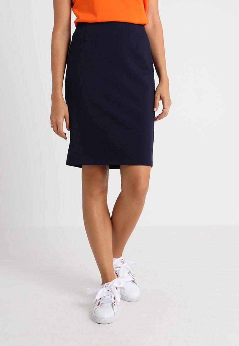 Benetton - PONTE SKIRT  - Pencil skirt - dark blue