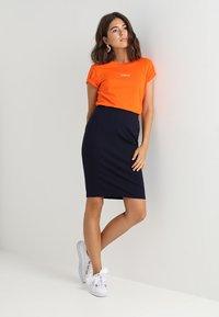 Benetton - PONTE SKIRT  - Pencil skirt - dark blue - 1