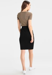 Benetton - PONTE SKIRT  - Pennkjol - black