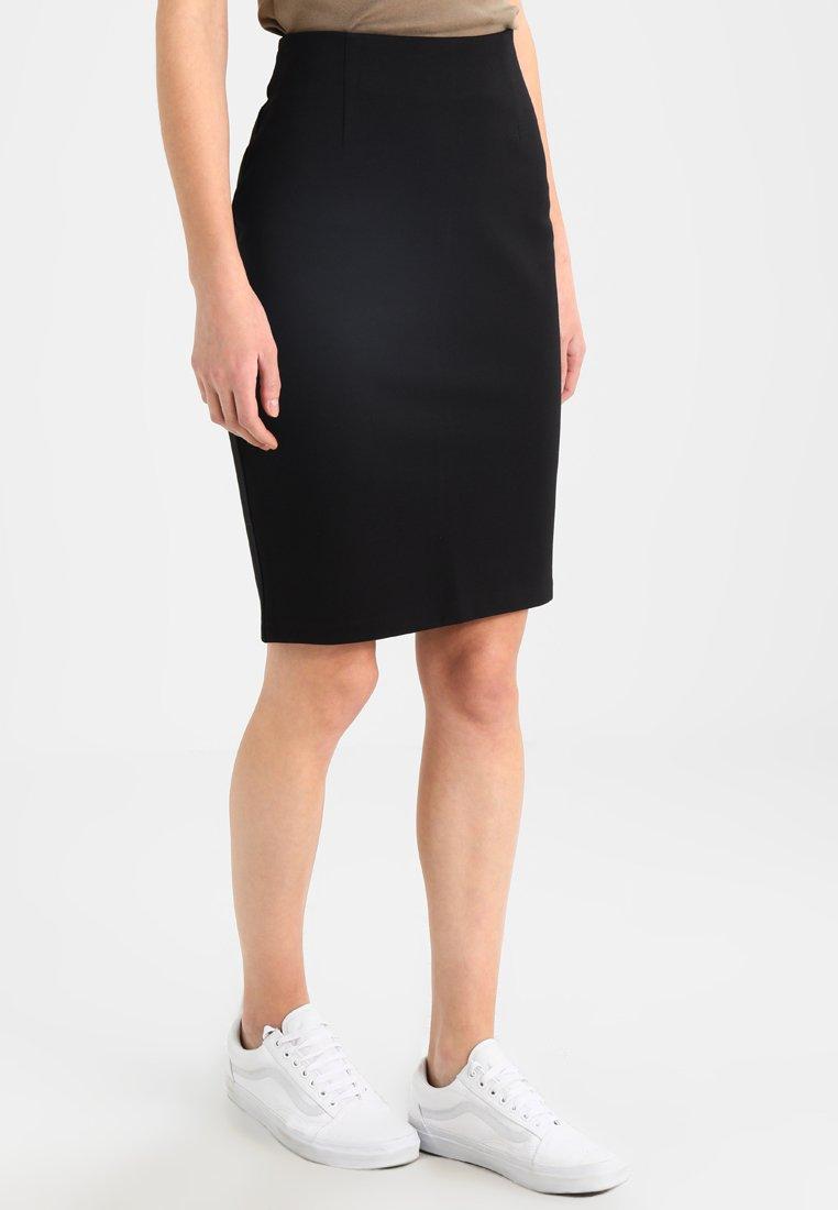 Benetton - PONTE SKIRT  - Pouzdrová sukně - black