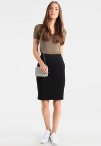 Benetton - PONTE SKIRT  - Pennkjol - black - 1