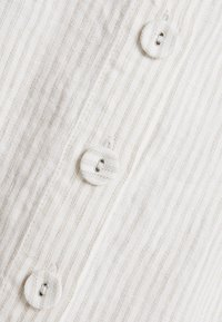 Benetton - STRIPE BUTTON DETAIL MIDI SKIRT - Spódnica trapezowa - white/beige