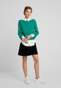 Benetton - SKIRT - A-linjekjol - black - 1