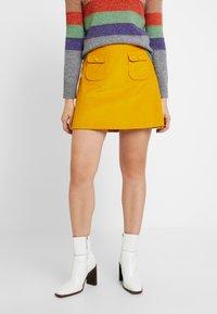 Benetton - ALINE MINI SKIRT - Áčková sukně - yellow - 0