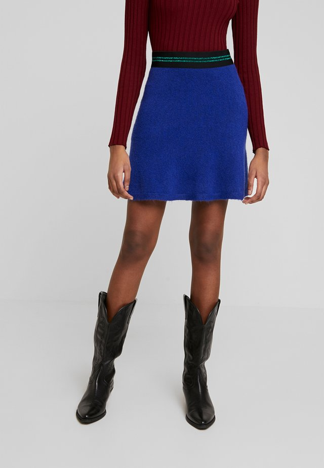 FLARED SKIRT - A-lijn rok - blue