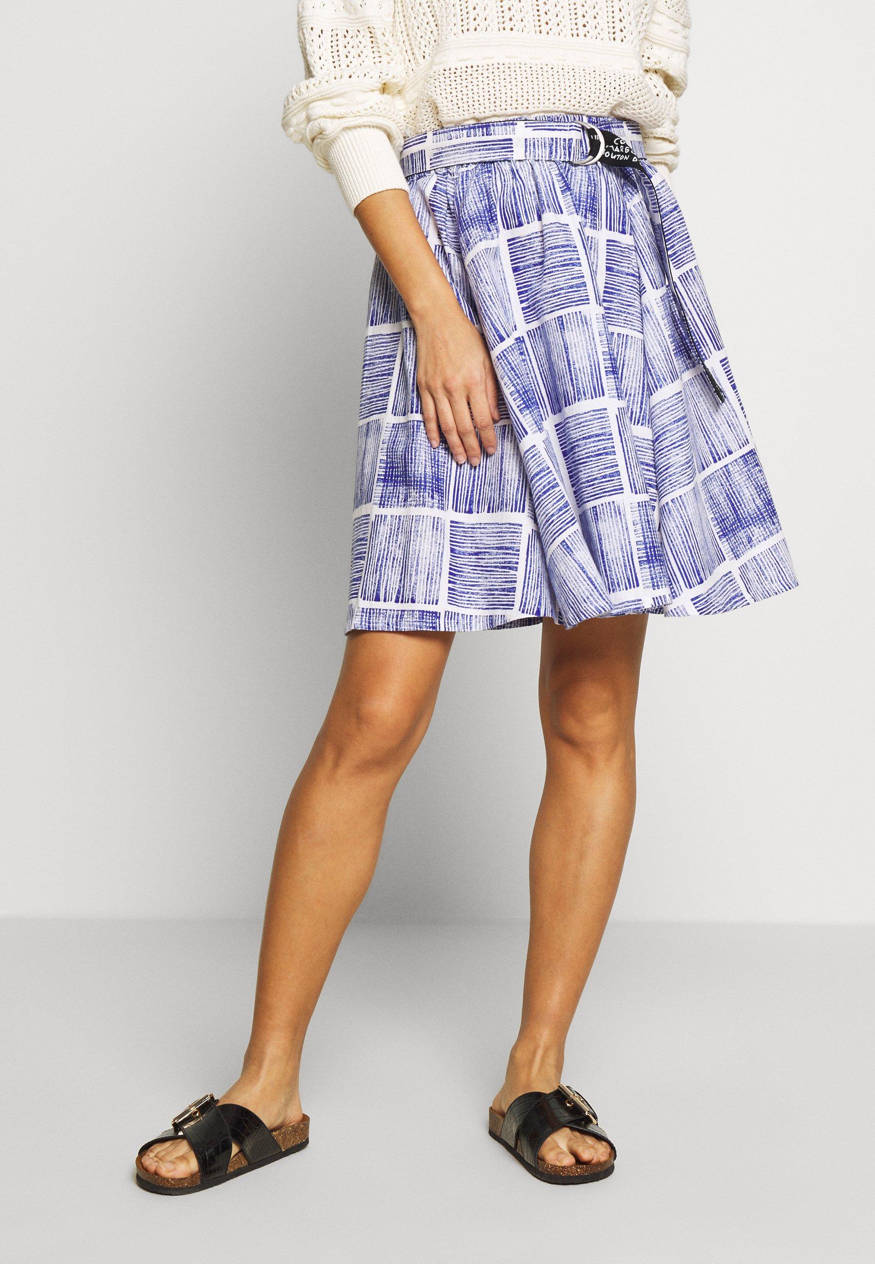 Spódnica trapezowa blue
