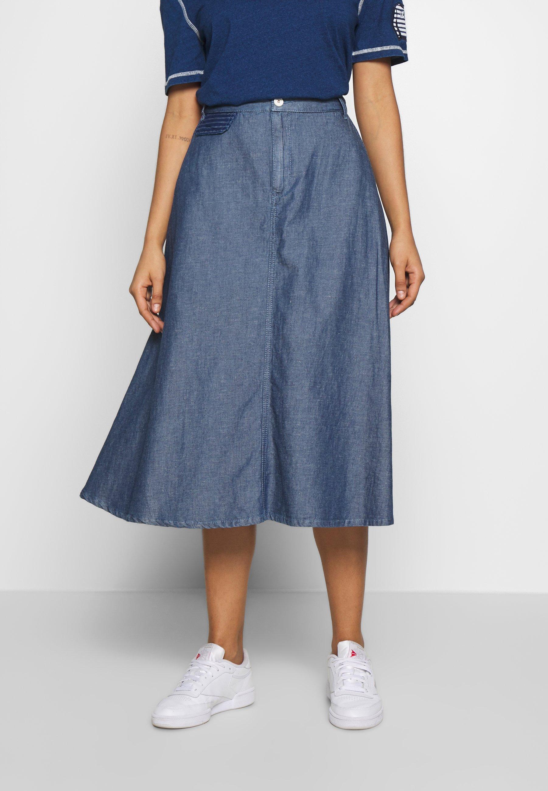 SKIRT Spódnica trapezowa blue