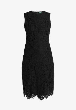 HEM MIDI DRESS - Společenské šaty - black