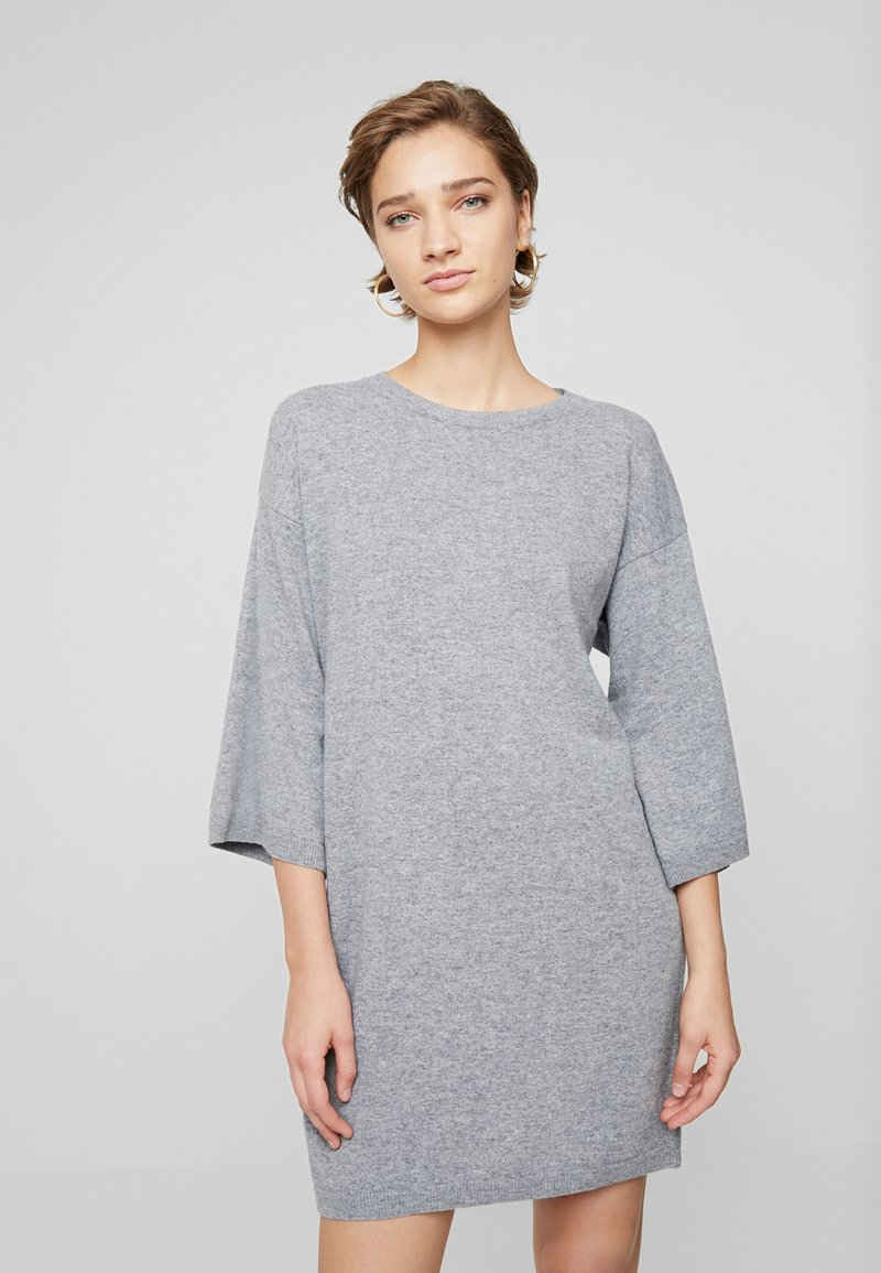Benetton - SHIFT DRESS - Robe pull - grey