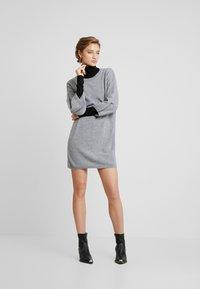 Benetton - SHIFT DRESS - Robe pull - grey - 2