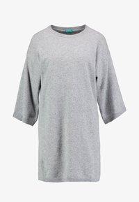 Benetton - SHIFT DRESS - Robe pull - grey - 4