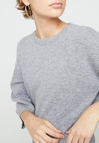 Benetton - SHIFT DRESS - Robe pull - grey - 5