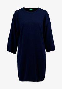 Benetton - SHIFT DRESS - Jumper dress - navy - 4
