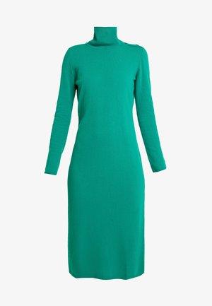 TURTLE NECK DRESS - Pletené šaty - green