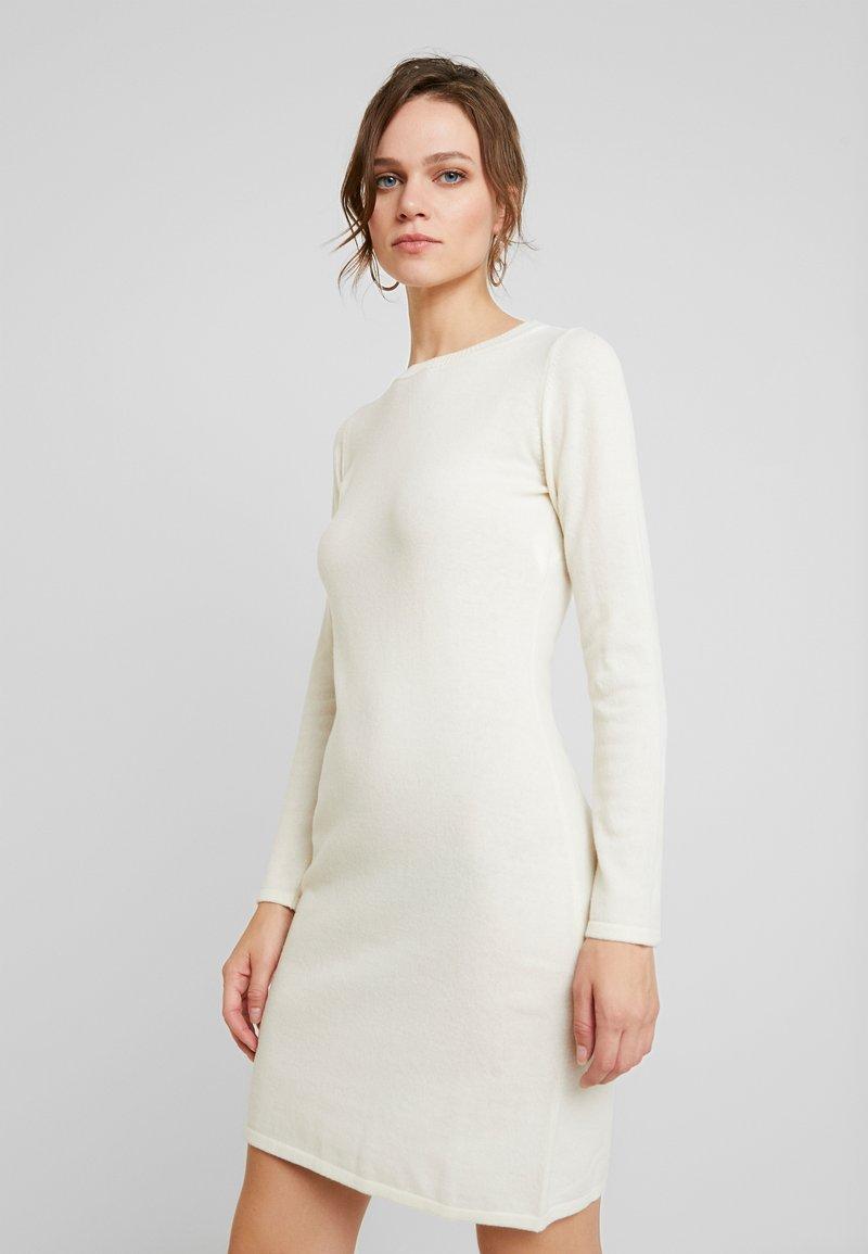 Benetton - DRESS - Pouzdrové šaty - white