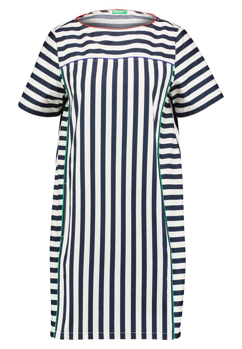 Benetton - DRESS - Freizeitkleid - navy