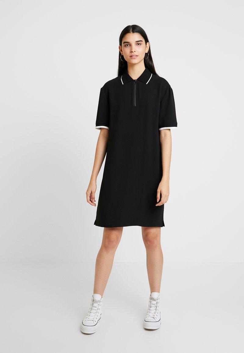 Benetton - DRESS - Shirt dress - black