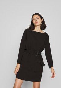Benetton - DRESS - Shift dress - black - 0