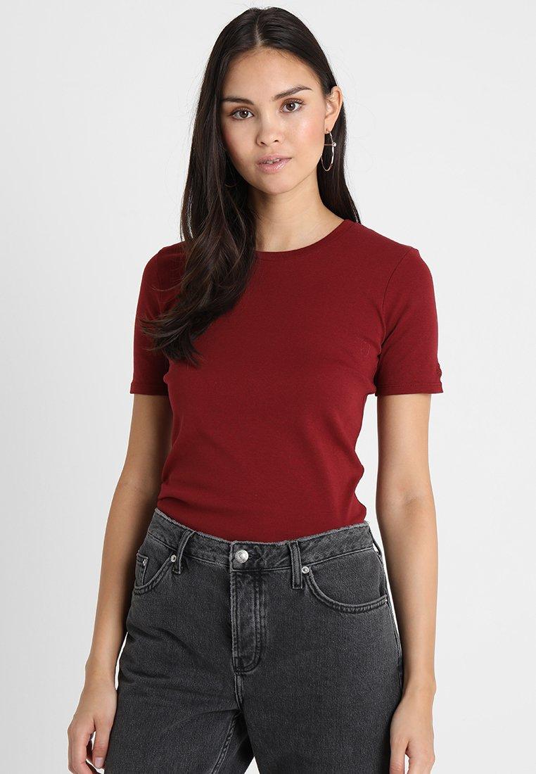 Benetton - ROUND NECK TEE - T-shirt basic - bordeaux