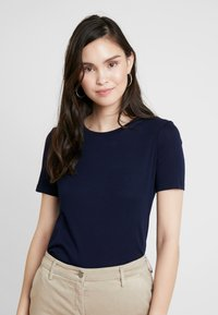 Benetton - ROUND NECK TEE - Basic T-shirt - navy - 0