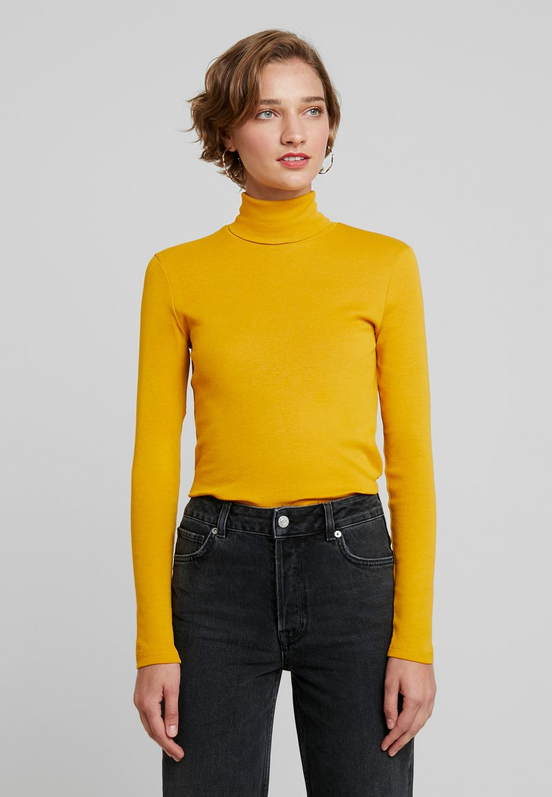Benetton - TURTLE NECK - Long sleeved top - mustard yellow