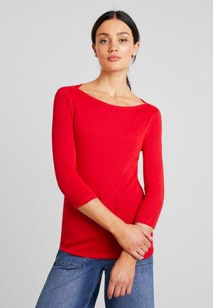 BOATNECK TEE - Pitkähihainen paita - red