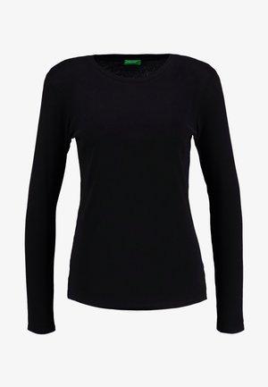ROUND NECK - Top sdlouhým rukávem - black