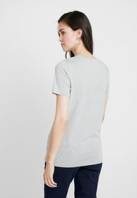 Benetton - ROUND NECK TEE LOGO - T-shirt con stampa - grey - 3