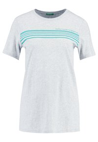 Benetton - ROUND NECK TEE LOGO - T-shirt con stampa - grey - 0