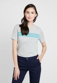 Benetton - ROUND NECK TEE LOGO - T-shirt con stampa - grey - 2