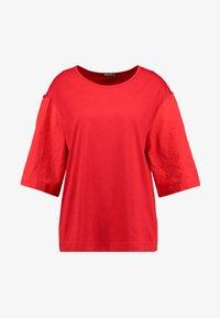 Benetton - T-shirt z nadrukiem - red - 4