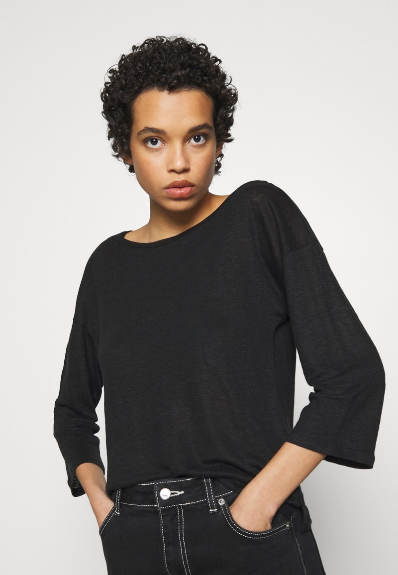 Benetton - Topper langermet - black