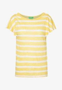 Benetton - T-shirt con stampa - yellow - 3