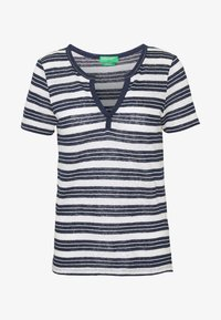 Benetton - T-shirt z nadrukiem - navy