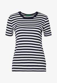 Benetton - T-shirt con stampa - navy - 4