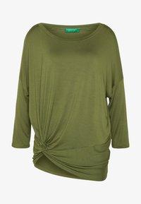 Benetton - Bluzka z długim rękawem - khaki - 4
