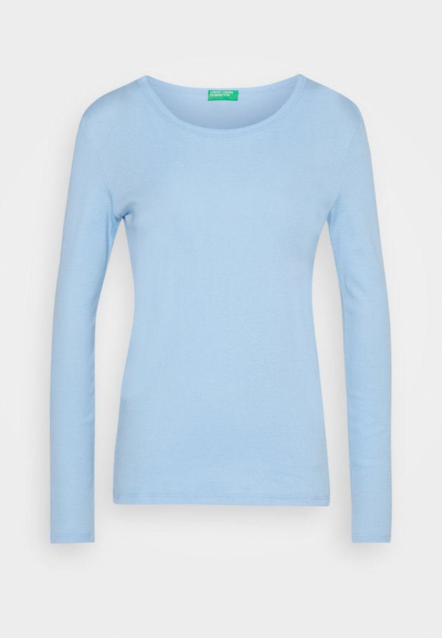 Langærmede T-shirts - light blue