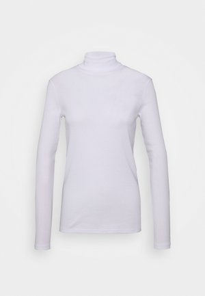 TURTLE NECK - Long sleeved top - white
